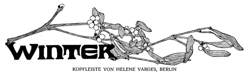 Helene Von Varges 1902 graphic Winter