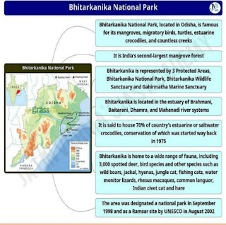 Bhitarkanika National Park and Wildlife Sanctuary in Odisha in Hindi