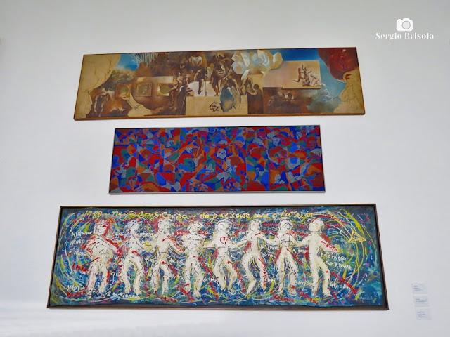 Vista das Obras do Concurso Painel Palácio dos Bandeirantes - Morumbi - São Paulo