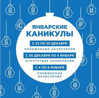 Работа рынков в Новогодние праздники - Finiko