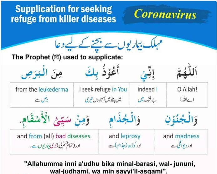 coronavirus dua in arabic