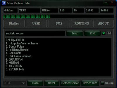 Cara Cek Pulsa di Modem Huawei STC e3276