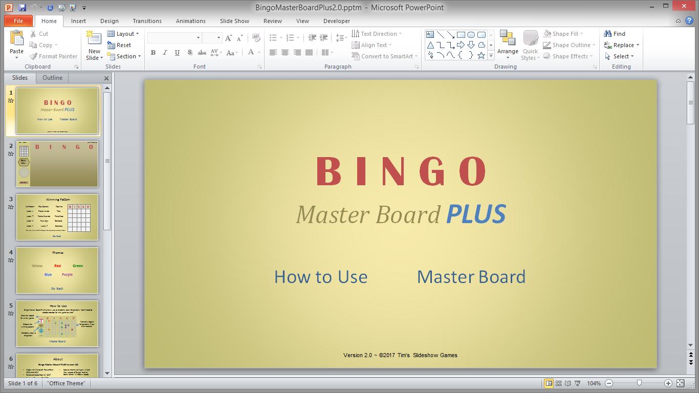 master - Bingo Master Board & Bingo Master Board PLUS BingoPlus2.0WorkShot