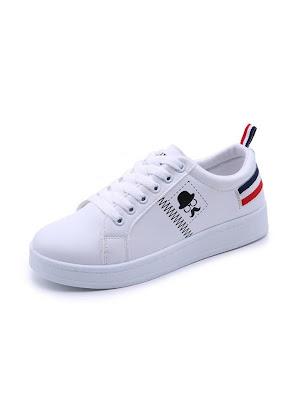 Giày Sneaker Thời Trang Nữ - YAMET SN005TD Trắng Phối Đỏ