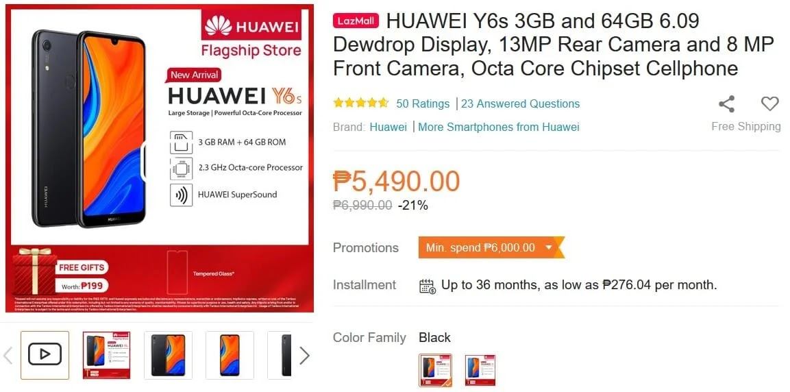 Huawei Y6s Price Lazada Philippines