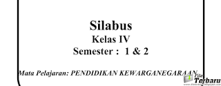 Download Silabus Kurikulum 2013 PKn Kelas 4 SD / MI Terbaru