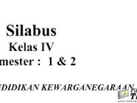 Download Silabus Kurikulum 2013 PKn Kelas 4 SD / MI Terbaru.