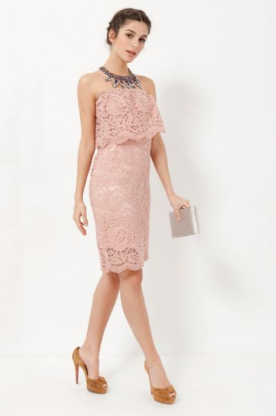 vestidos damas de honor rosa clara