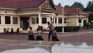 Pemukulan Tiga Polisi oleh Atasan di Padang Pariaman Viral di Medsos