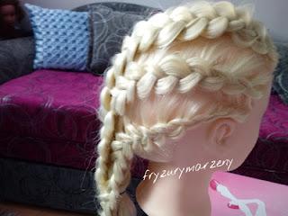 Warkocz holenderski,fryzurymarzeny,fryzury dla dziewczynek