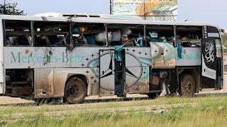 Astaghfirullah... Bus Pengangkut Pengungsi Diserang Milisi Syiah Suriah, 100 Warga Sipil Terbunuh