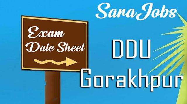 DDU Gorakhpur Date Sheet