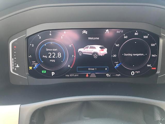 Instrument cluster in 2020 Volkswagen Atlas Cross Sport