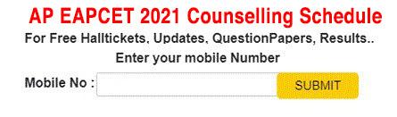 Andhra Pradesh Eapcet counselling 2021