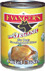 Picture of Evanger's 100% Organic Cooked Chicken Canned Dog Food