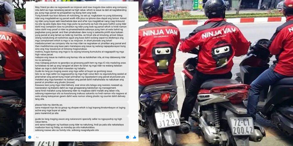 Ninja Van magnanakaw