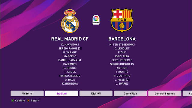 Match Real Madrid vs Barcelona e-football PES2020