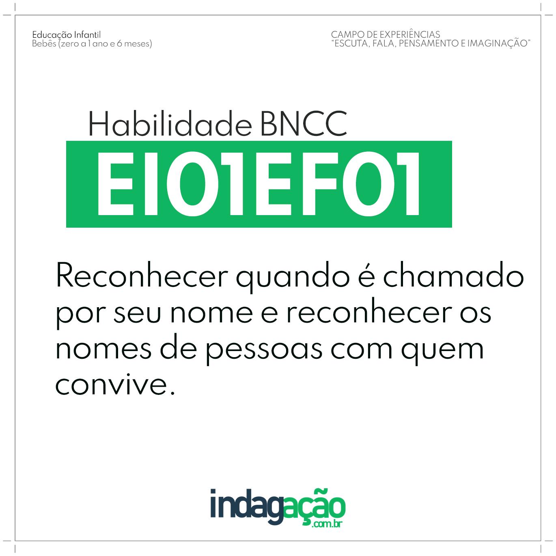 Habilidade EI01EF01 BNCC