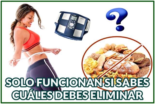 Baja de peso de forma saludable eliminando solo algunos carbohidratos