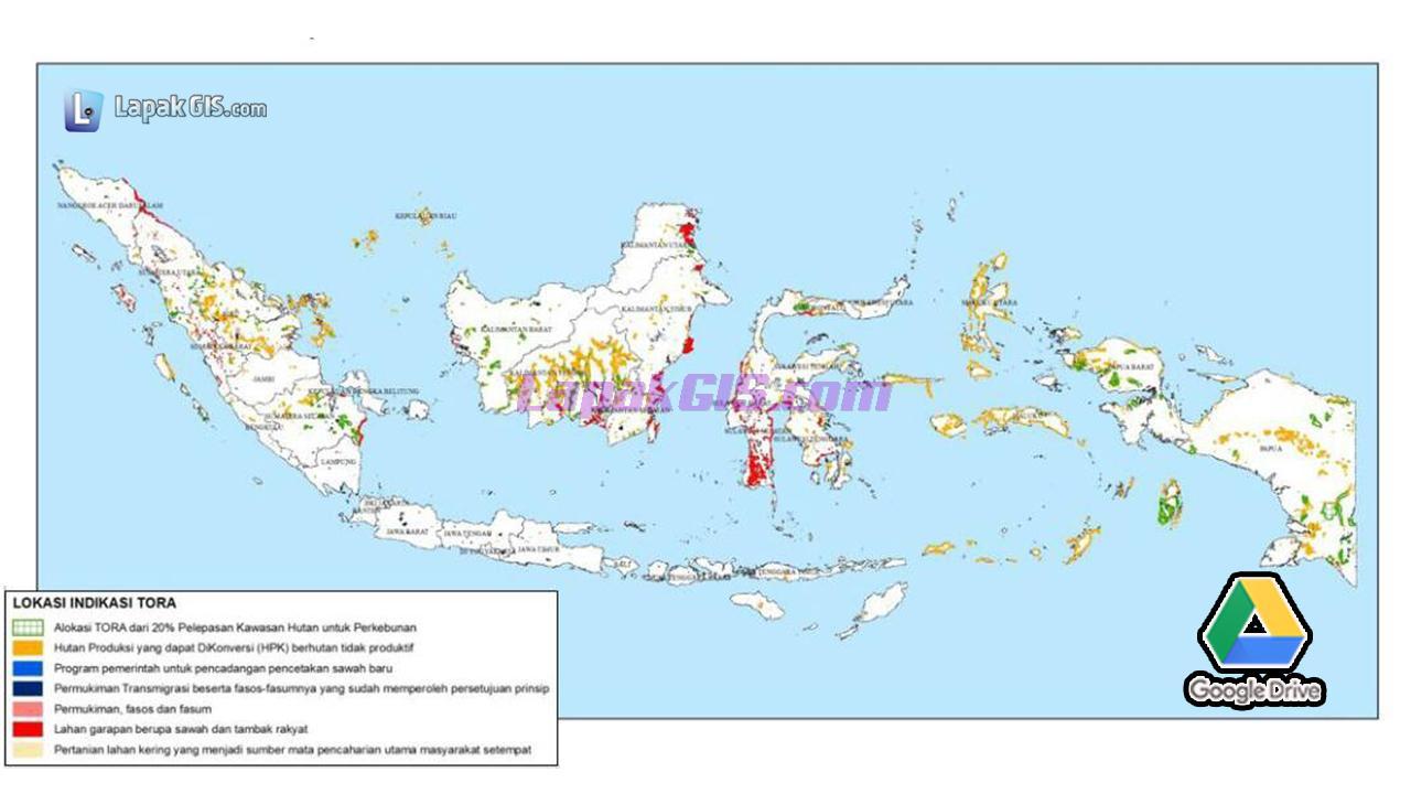 Peta TORA Terbaru Lengkap Se-Indonesia