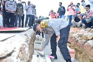 Kapolda Jambi Menghadiri Peletakan Batu Pertama Pembangunan Polres Batang Hari