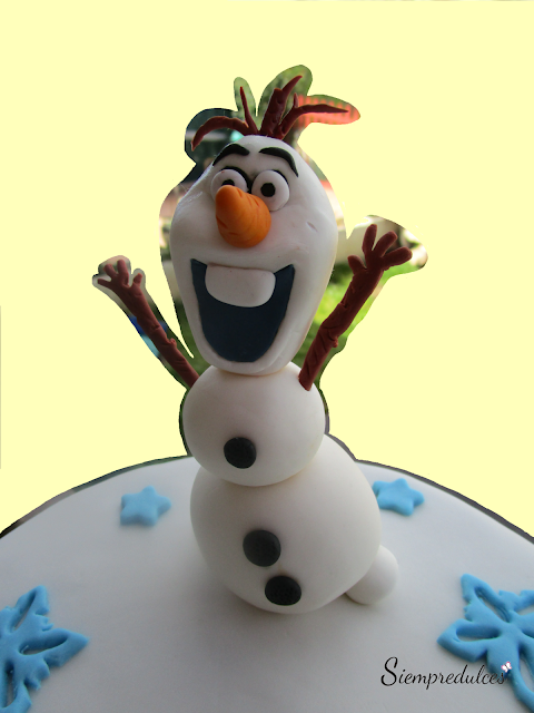 Tarta - Olaf de Frozen (Siempredulces)