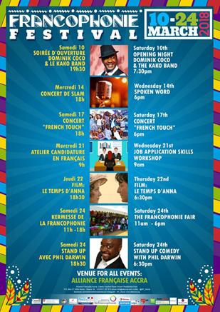 2018 Francophonie Festival set for March 10 – 24