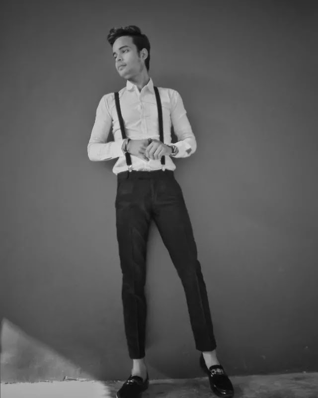 Suspenders with Shirt and trousers