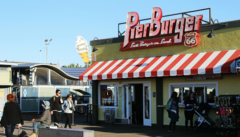 pier burger santa monica pier pictures california los angeles