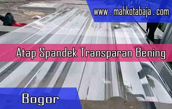 Harga Atap Spandek Transparan Bogor