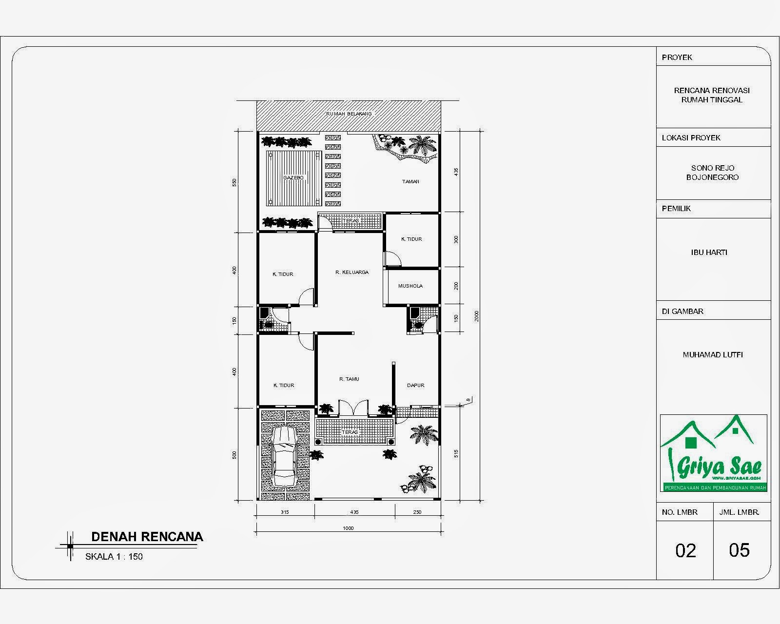 Desain Rumah Kontrakan 4x8 Situs Properti Indonesia