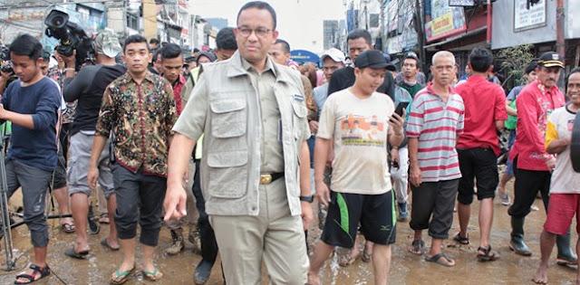 Gubernur Anies: Alhamdulillah Air Telah Surut