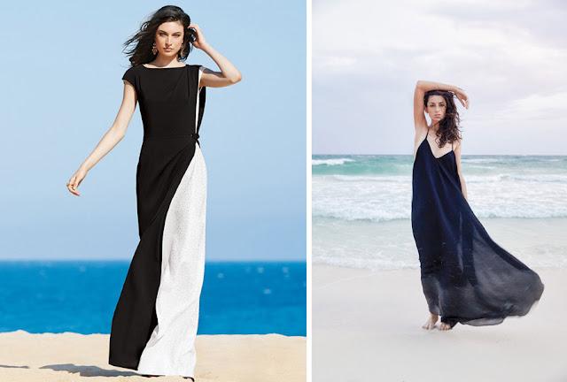 Длинные летящие черные платья