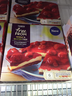 Tesco Free From Strawberry Cheesecake