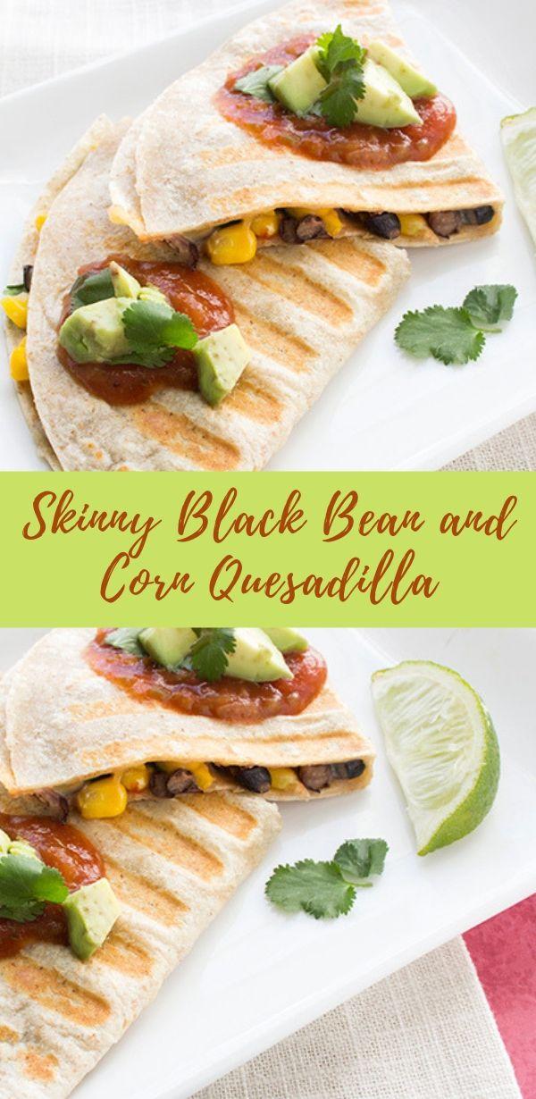 Skinny Black Bean and Corn Quesadilla