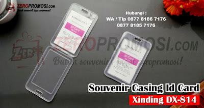 Tempat ID Card Plastik Mika / ID Card Holder / ID Case Xinding, Tempat Id Card Xinding DX-814, Cassing kotak Id Card / Kotak name tag DX 814, Kotak name tag DX 814