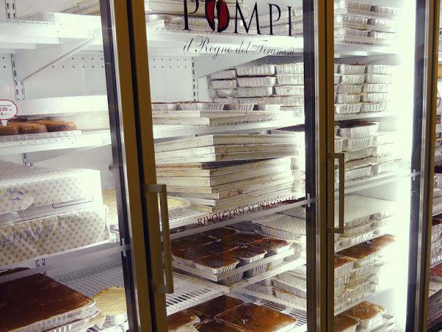bandejas de tiramisú en Pompi