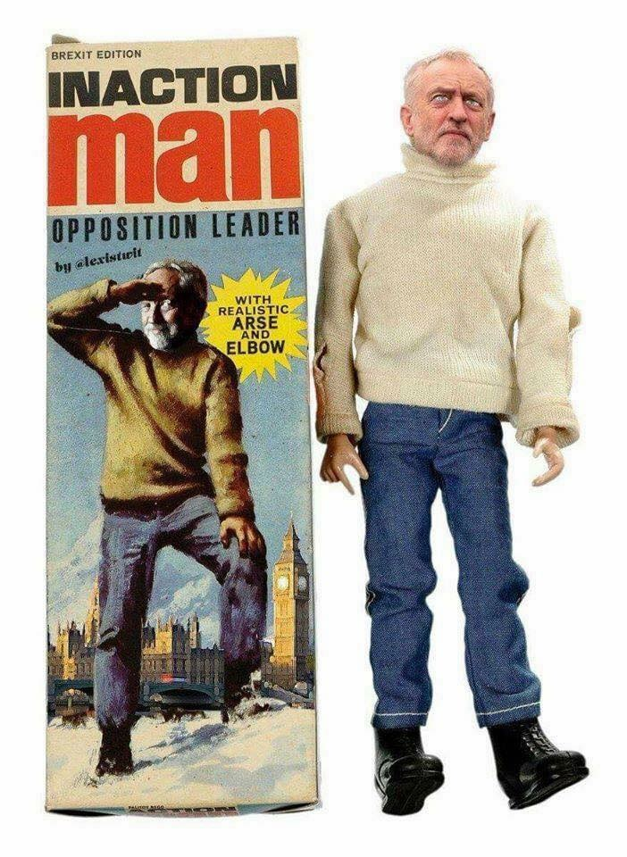 Funny Jeremy Corbyn Inaction Man Picture