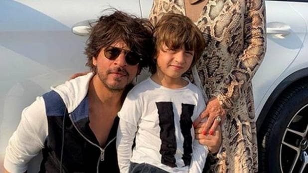 Who is this woman seen with Shahrukh Abram