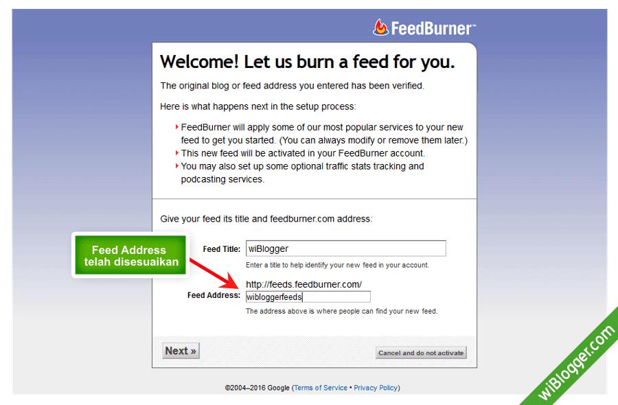 Cara membuat email berlangganan di blogger