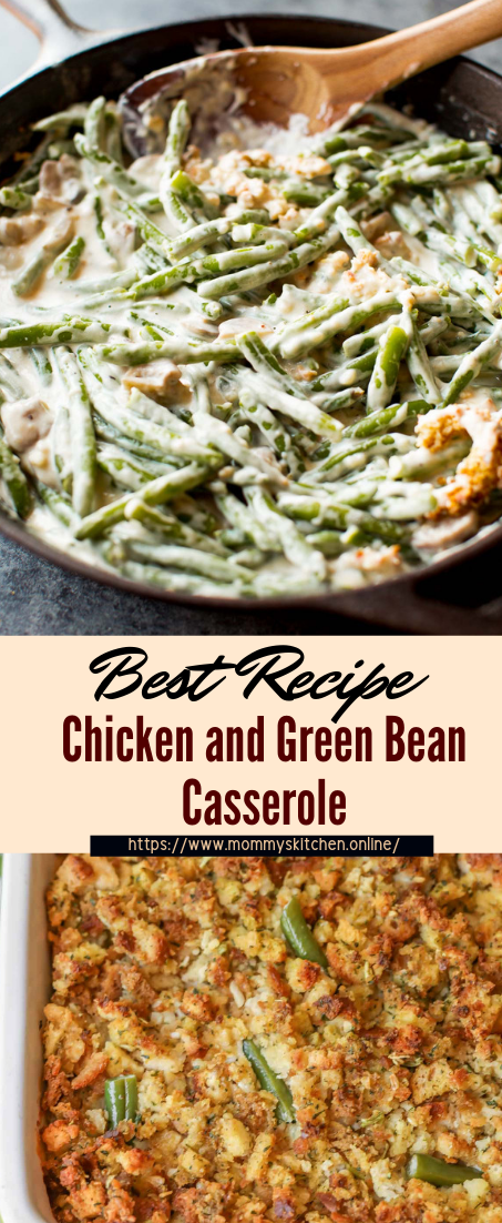 Chicken and Green Bean Casserole #dinnerrecipe #food #amazingrecipe #easyrecipe
