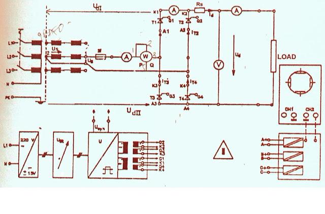 Diagram rangkaian percobaan