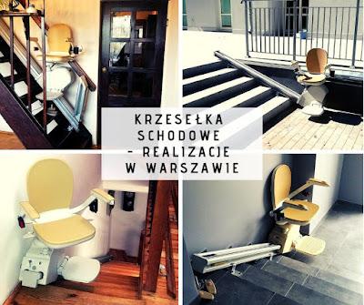 Krzesło przyschodowe - Warszawa - przykłady realizacji