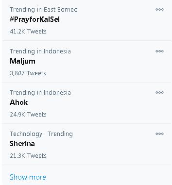 Trending twitter