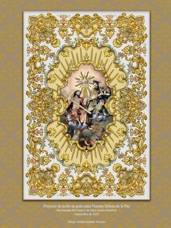 La Hermandad del Cautivo de Isla Cristina presenta el dibujo del techo de palio, obra de Rafael Infante
