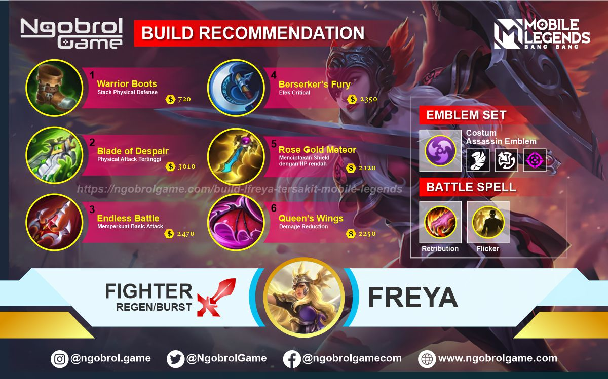 Build Freya Top Global Tersakit Mobile Legends