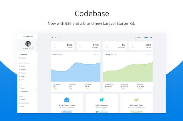 Codebase Admin Template Bootstrap 4 - Themeplatinum