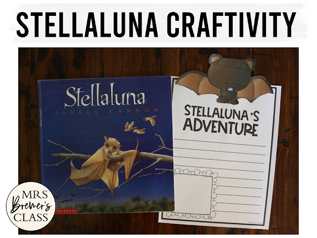 Stellaluna book activities with standards based literacy learning and a Stellaluna craftivity
