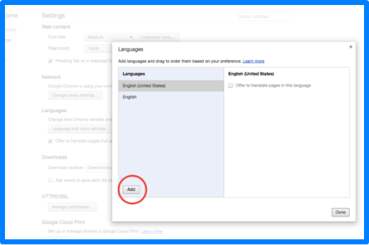 How to Change Language in Google Crome