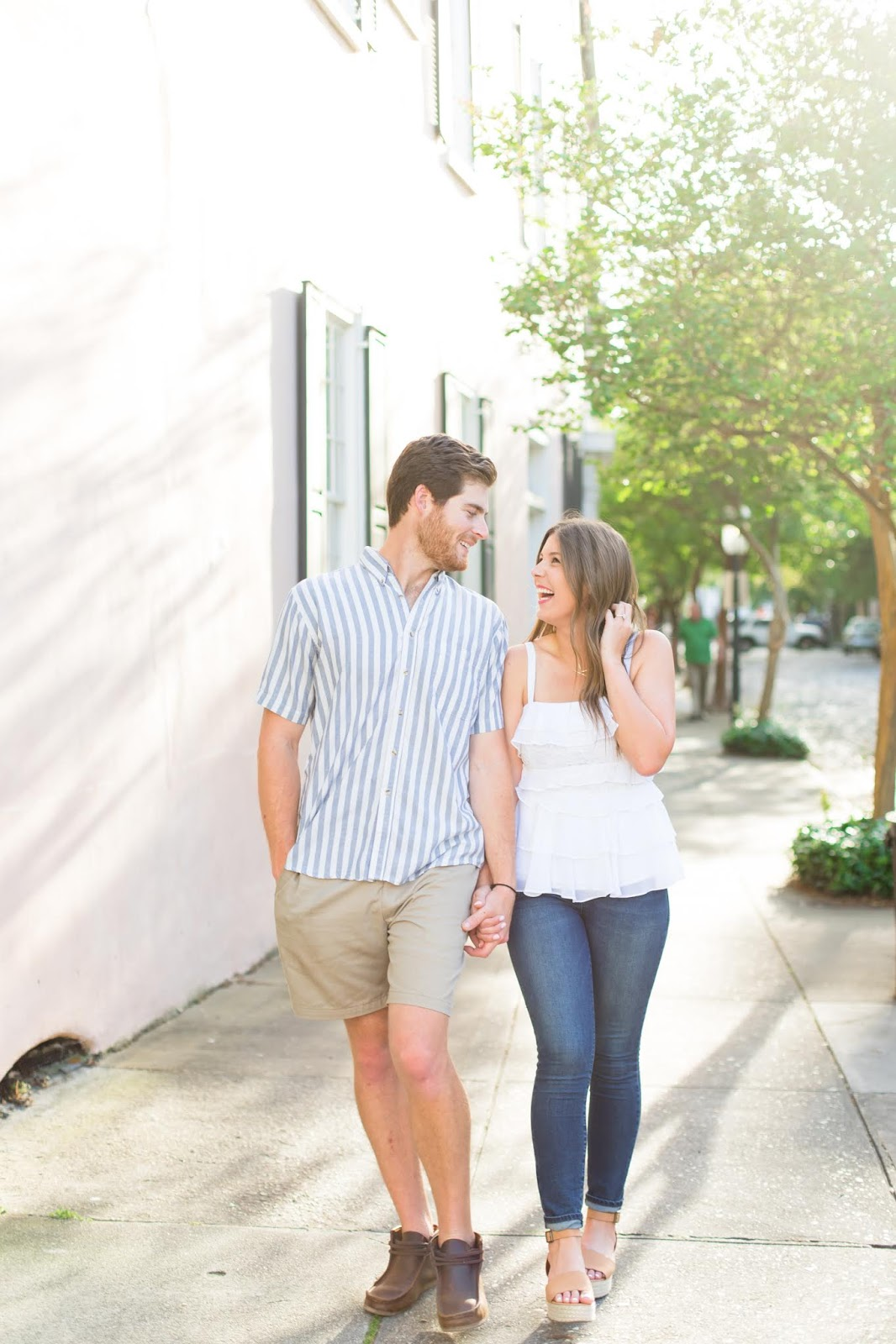Downtown Charleston, SC Engagement - Chasing Cinderella